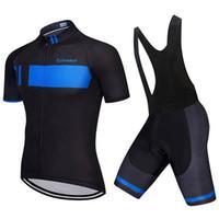 jerseys china venda por atacado-2019 Nova Equipe Gigante de ciclismo Jersey Conjunto de homens de manga curta bicicleta roupas de bicicleta de montanha camisa bermudão terno barato-roupas-china Y060405