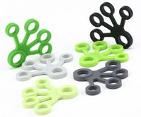 Wholesale stretcher silicone - Finger Puller Gripper Strength Finger Trainer Gym Strength Training Elastic Hand Grips Wrist Yoga Stretcher Finger Expander Exercise EEA306