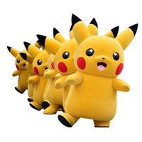 Wholesale Character Suits Mascots - 2018 High quality Top Grade Deluxe Pikachu Mascot Costume Cartoon Character Costumes Mascot Costume Fancy Dress Party Suit