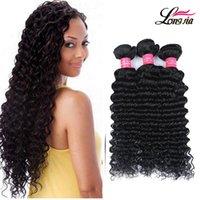 Wholesale Curly Virgin Hair Bundle Deals - Brazilian Virgin Human Hair Deep Weave Bundle Deals Grade 8A Brizilian Virgin Deep Curly Human Hair Extensons Brazilian Hair Natural Color