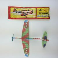 uçak oyuncak diy toptan satış-Toptan Bulmaca Sihirli Uçan Planör Uçak Düzlem Köpük Geri Uçak Çocuklar Çocuk DIY Eğitici Oyuncak