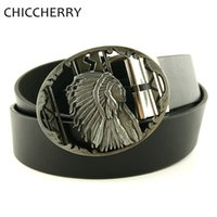 Wholesale native american fashions - Mens PU Leather Belts Native American Indian Old West Warrior Chief Belt Buckle Biker Motorcycle For Men Jeans Cinturon Hombre