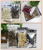 Wholesale Translucent Plating Aluminium Ziplock Bag Zipper Reclosable Aluminizing Foil Plastic Bag Spot Package