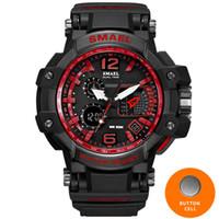 Wholesale Men S Sport Clock - Men Watches White Sport Watch LED Digital 50M Waterproof Casual Watch S Shock Male Clock 1509 relogios masculino Watch Man