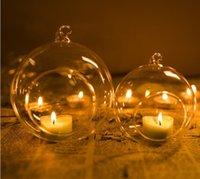 ingrosso paesaggio matrimonio-Trasparente sfera globo forma chiaro appeso vaso di vetro piante da fiore terrario contenitore micro paesaggio fai da te decorazioni per la casa di nozze