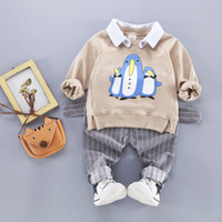 Wholesale penguin kids clothes for sale - Group buy Toddler Boys Sets Clothing Penguin Kids Long Sleeve T Shirt and Pants Years Children Clothes Suit Tracksuits