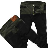 Wholesale cheap color jeans - YG6170-A1401 Spring autumn 2018 new men's Korean version matching color big size stretch jeans cheap wholesale