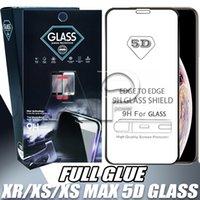 couvertures d'écran d'iphone achat en gros de-Protecteur d'écran en verre trempé 5D pleine couverture pour iphone XS MAX XR X 8 7 Plus Samsung Galaxy J3 J4 J6 J8 2018