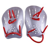 Wholesale Webbed Swimming Gloves - yingfa Pair Gray Rubber Swimming Hand Paddles Webbed Gloves M