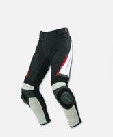 calças de corrida de komine venda por atacado-2018 novo couro komine PK717 estilo verão de malha de tecido de couro da motocicleta de corrida calças especiais