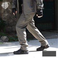 askeri yumuşak kabuk pantolon toptan satış-Askeri fan Pantolon yumuşak kabuk Köpekbalığı cilt Artı kadife Sıcak pantolon erkekler Sonbahar Kış polar pantolon yeşil su geçirmez Cepler rahat pantolon