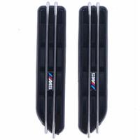 Wholesale plastic grilles - 2pcs Air Flow Fender Side Vents Mesh Sticker Hole Grille For BMW M5 E12 E28 E39 E60 E61 F07 F10 F11 F18 5Series C 5