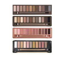 Wholesale 12 color eyeshadow palette online - Makeup Eye Shadow NUDE color eyeshadow palette g Heat eye shadow palette