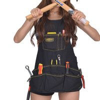 Wholesale quality cloth art for sale - Group buy Oxford Cloth Apron Kitchen Accessories Adjustable Household Garden Aprons Multi Bag Design Art Without Tools Pinafore Top Quality sq BW
