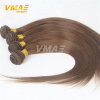 Wholesale straight thick hair - Brazilian human virgin Straight Human Hair Weave Bundles Remy Hair Weaving Hot Beauty Cheap Soft Thick End Hair