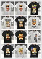 Wholesale tiger 3d - Men's New Cotton 100% Summer T Shirts Designer Letter Snake Tiger Animal 3D Printing High-quality T-shirt Fashion