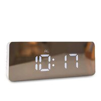 часы с несколькими тревогами оптовых-LED Alarm Desk Clock Multi-function Digital Electronic Mirror Clock Temperature Snooze Large Display Home Decor Mirror Function