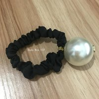 Wholesale pearl mark for sale - Group buy fashion C pearls elastic hair rope Ladys collection Item Fashion Hair Accessories big Pearl with Marks party souvenirs