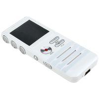 ingrosso microfono del registratore vocale-Riduzione professionale del rumore Mini 8GB Digital Voice Recorder Dual Microphone Lettore MP3 Registrazione stereo