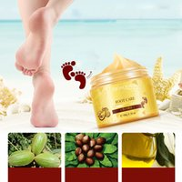 Wholesale baby feet peeling - BIOAQUA 24K GOLD Shea Butter Massage Cream Peeling Renewal Mask Baby Foot Skin Smooth Care Cream Exfoliating Foot Mask 3006076