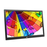 15 resim çerçevesi toptan satış-Toptan 15 inç LED Aydınlatmalı HD 1280 * 800 Tam Fonksiyonlu Dijital Fotoğraf Çerçevesi Elektronik Albüm dijital Resim Müzik Video İyi