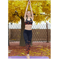 Wholesale yoga pants for women online - Women s Sports Suit With A Floral Print Sexy Bra For Yoga Sports Leggings Tights For Running Gym Fitness Yoga Sportswear S