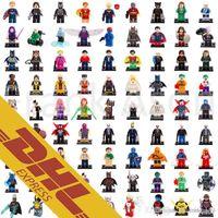 Wholesale Blocks Figures - Wholesale Roles Mix Order Super Heroes Minifig Bat Movie The Avengers Spiderman Super Man Figures Super Heroes Mini Building Blocks Figures