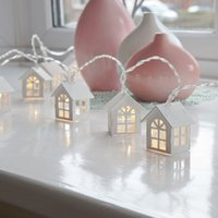 Wholesale holiday housing - 1.5M 10LED House Shaped Led String Lights for Indoor Decoration Girl's Room Decorative String Lights for Christmas Wedding Party Garden
