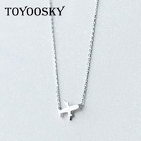 Wholesale aircraft necklaces - Wholesale Real. 925 Sterling Silver Aircraft Airplane Plane Pendant Necklace Handmade Jewelry Gift 2017 NEW