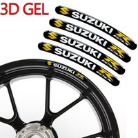 Wholesale honda strip - New 3D Gel Motorcycle Wheel Hub Rim Strip Decal Valentino Rossi 46 VR The Doctor Car Sticker For YAMAHA HONDA KTM Kawasaki