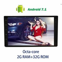 Wholesale car pc wifi - 7''Android 7.1 car audio Double 2Din GPS Navigation no DVD Player Octa Core Car radio Stereo car PC In Dash Bluetooth WiFi