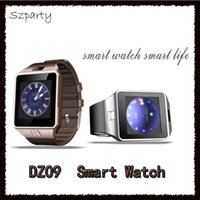 Wholesale Gps Watch Cell Phones - Smart Watch DZ09 Bluetooth Sports Smartwatch SIM Card Mini Phone Call Write Watches For Apple Samsung IOS Android Cell phone vs GT08 U8
