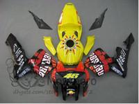 Wholesale Honda Repsol Motorcycle - Injection molding s424R motorcycle fairing kit for Honda CBR600RR 05 06 Yellow Repsol fairings set CBR600RR 2005 2006
