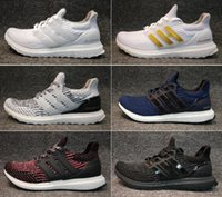 Wholesale factory falls - Factory outlets Ultra boost 3.0 4.0 Running Shoes Men Women UltraBoost 3 III Primeknit Runs White Black Athletic Shoes Eur 36-47