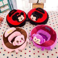 bebek sandalyeleri toptan satış-Karikatür Yemek Sandalyeleri Bebek Destek Koltuk Peluş Yumuşak Bebek Kanepe Koltuk 3-6 Ay Için Bebek güvenli Yastık Minder Kanepe XXP113