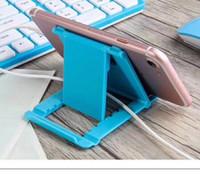 soporte para teléfono plegable al por mayor-Nuevo soporte para teléfono móvil plegable con soporte de escritorio para tableta, teléfono móvil Soporte para teléfono móvil para iPad iPhone de Samsung con paquete minorista