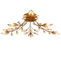ingrosso cristalli di lampadari in bronzo-Lampadari in cristallo di ferro E14 K9 plafoniera in cristallo nero / Bronzo lampadari a soffitto per la casa