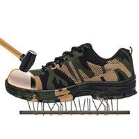 bottes de sécurité militaires achat en gros de-2019 nouveaux hommes, plus la taille extérieure en acier toe cap militaire travail sécurité bottes chaussures hommes camouflage armée anti-perforation bottes