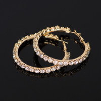 YFJEWE 2020 New hot sale Crystal Rhinestone Earrings Women Gold Sliver Hoop Earrings Fashion Jewelry Earrings For Women #E029