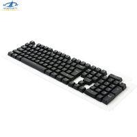 ingrosso tastiera da gioco di colore bianco-HFSECURITY OEM 104 ABS Keycaps traslucido bianco colore nero Tastiera meccanica Tastiera retroilluminata per Cherry MX Gaming Keyboards