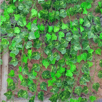 hera suspensa de plástico venda por atacado-Casa Decoração Da Parede De Plástico De Seda Artificial de Plástico Ivy Vine Hanging Planta Guirlandas Artesanato Suprimentos Para O Casamento Decoração de Casa 2.4 M / 94 polegada