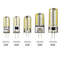 contas epistar venda por atacado-G4led lâmpada G9 tomada plana 3 W lâmpada LED 220 V 110 V 64 silicone talão bulbo de alta tensão 3014SMD