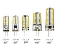 ingrosso branelli epistar-G4led lampada G9 flat plug 3W LED lampadina 220V 110V 64 tallone siliconico 3014SMD lampadina ad alta tensione