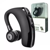 csr usb toptan satış-V9 Kablosuz Bluetooth Kulaklık Iş Kulaklık Sürücü Kulakiçi Kulaklık Ile Mic Stereo CSR 4.1 Gürültü Iptal Ses Kontrolü Yüksek Kalite