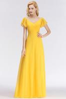 f5d1cc38c0 Venta al por mayor de Vestido Largo Amarillo Plisado - Comprar ...