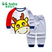 Wholesale cheap girls clothing sets - Cotton Baby Clothing Set Spring Long Sleeve Newborn Outfits Baby Boy Pants Set Suits Cheap Boy Clothes Girls Sets Pajamas Shirt