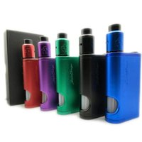Wholesale Quality Components - Goon 528 DRIPTECH DS Squonker box mod V1.5 RDA kit Dual parallel 18650 configuration Anodized aluminum bady and components High Quality DHL
