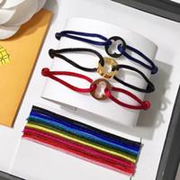 bracelet à main de nouveaux styles achat en gros de-Nouveau style Ronde Creux-dehors fleur corde Bracelet quatre feuilles fleur courroie couple bracelets pour femmes et hommes mode bijoux top marque