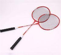 leichte badmintonschläger großhandel-Stärke Licht Badmintonschläger Aluminiumlegierung Battledore Mit Tragetasche Schläger Für Amateur Anfänger Tragen Resista New 20bb dZ