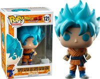 ejderha topu z rakamlar kutusu toptan satış-Funko POP Dragon Ball Z Süper Saiyan Tanrı Kutusu ile Süper Goku Vinil Action Figure # 235